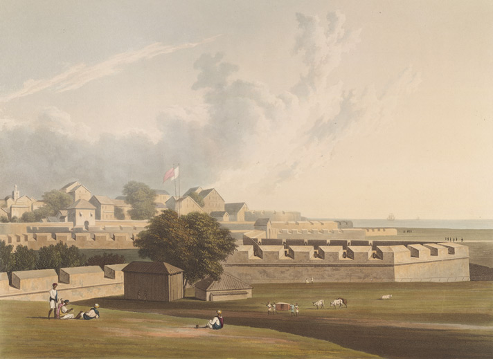 North-west view of the fort of Bombay